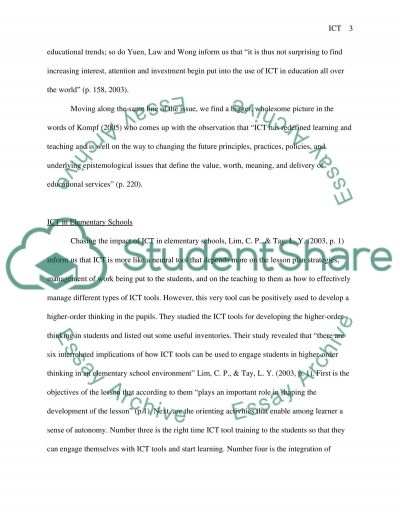 ICT in Education essay example
