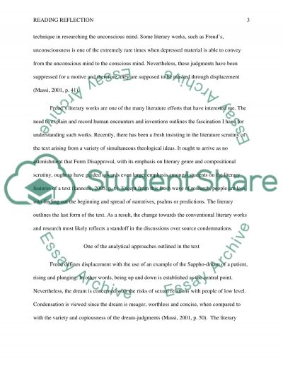 Reading reflection Essay example