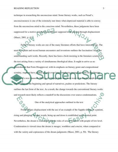Reading reflection essay example