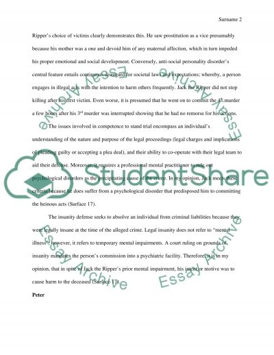 Abnormal psychology essay example