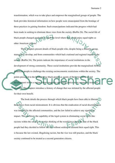 African American Studies Paper