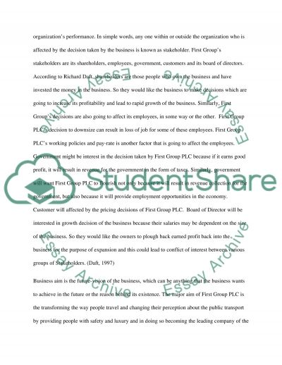 FirstGroup plc essay example