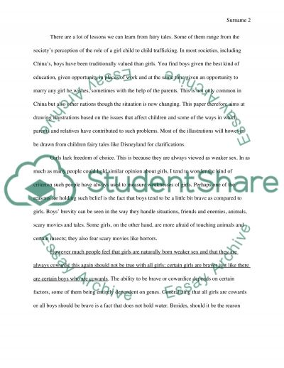 Fairy tales essay example