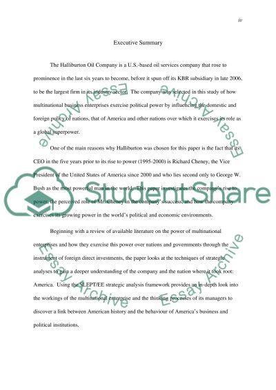 Power of Multinational essay example