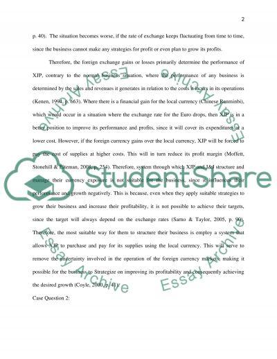 Economics of exchange rates essay example