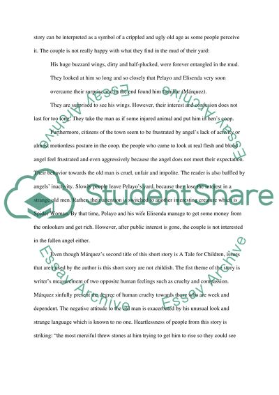 Very Old Man With Enormous Wings Essay Example  Topics And Well  Very Old Man With Enormous Wings Argumentative Essay Sample High School also Buy Essays Papers  Short English Essays