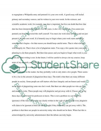 Code of Ethics (Plagiarism)