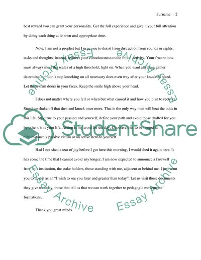 high school graduation student commencement speech essay   high school graduation student commencement speech