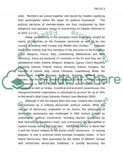 Bulgaria and the European Union essay example