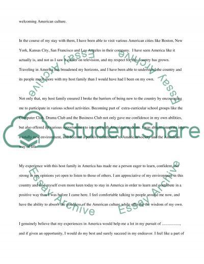 Scholarship essay example