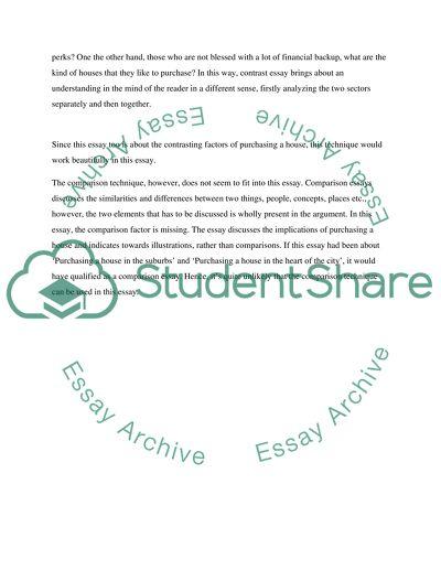 Contrast, Comparison and Definition Essays