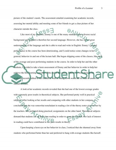 Profile of a Learner essay example