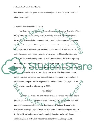THEORY APPLICATION PAPER ( SCHOLARLY PAPER)