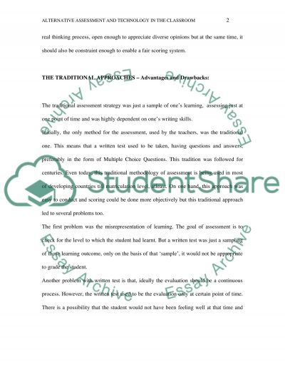 Learning and Assessment essay example