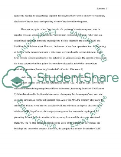 Discontinuing Operations Case Study essay example
