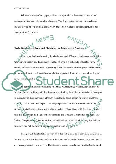 Discernment Practices essay example