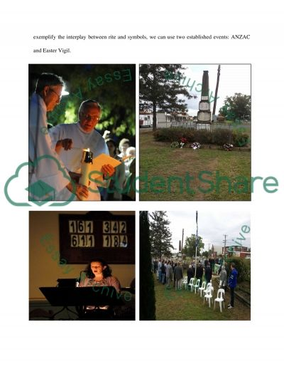 Photo Essay Using images of the Easter Vigil and Anzac Day essay example