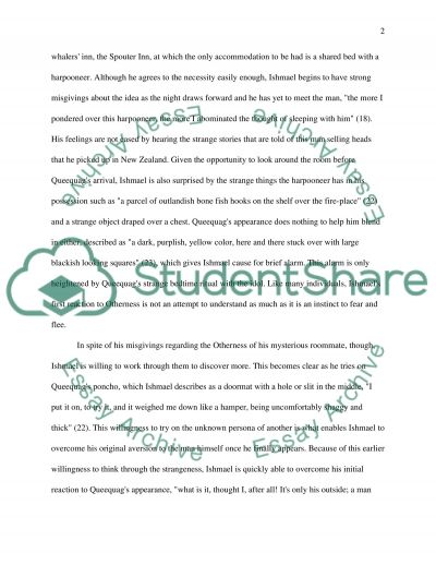 Otherness in Moby Dick essay example
