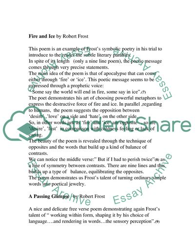 Essay on robert frost