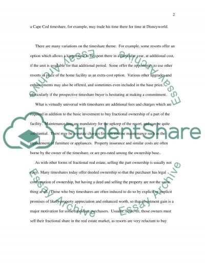 Fractionals and Related Shared Ownership Formats essay example
