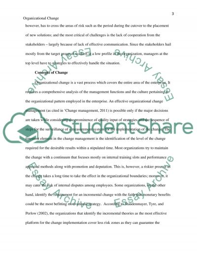 organizational transformation essay That essay provided information concerning the various aspects of school context   an organization's vision is an important component in the change process.