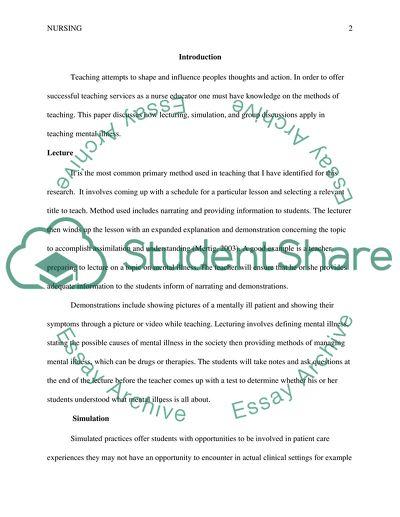 Methods for Teaching