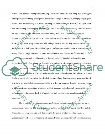 Adolescents and Eating Disorders essay example