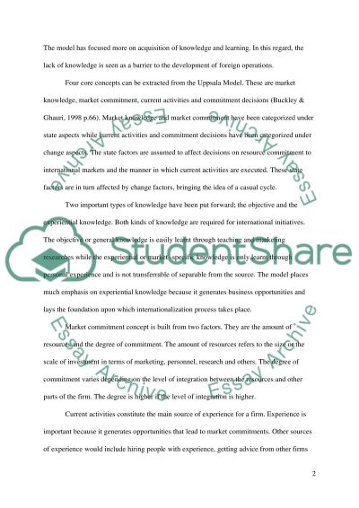 Theories of Internationalization essay example