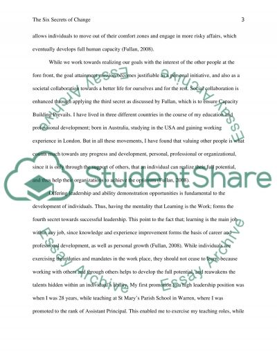 EDLE 640 - Assignment 1 essay example