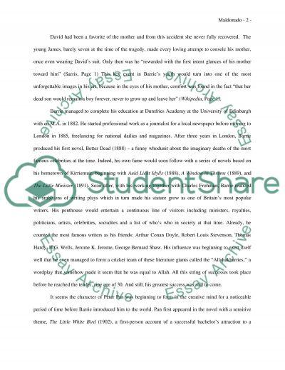 James Matthew Barrie essay example