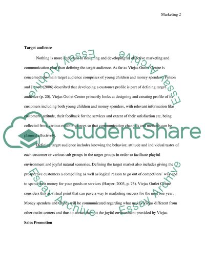 Marketing communication essay example