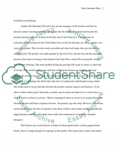 sift cupcake and dessert bar Essay example