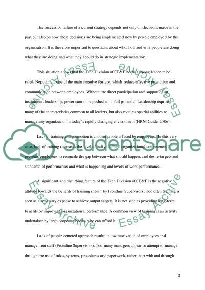 Organizational Change essay example