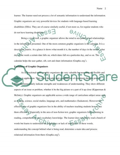 Nonfiction Text and the Use of Graphic Organizers essay example