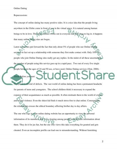Research-persuasive essay on online dating