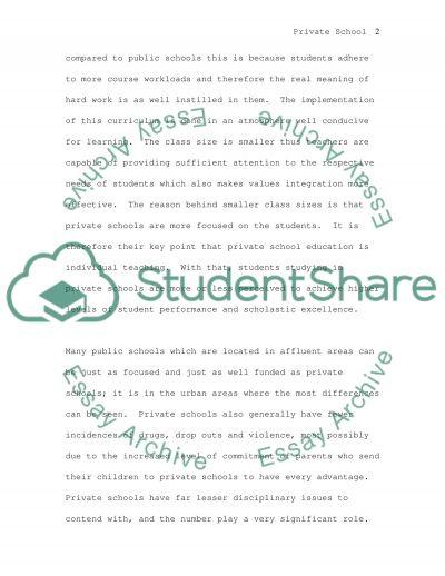Private School Education essay example