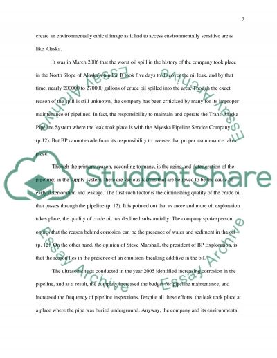British Petroleum America, Inc essay example