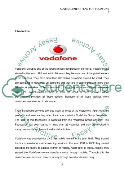 Advertising plan for Vodafone