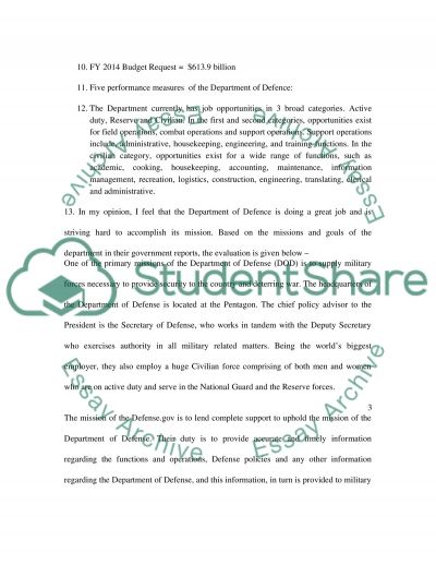 Government accountability office essay example
