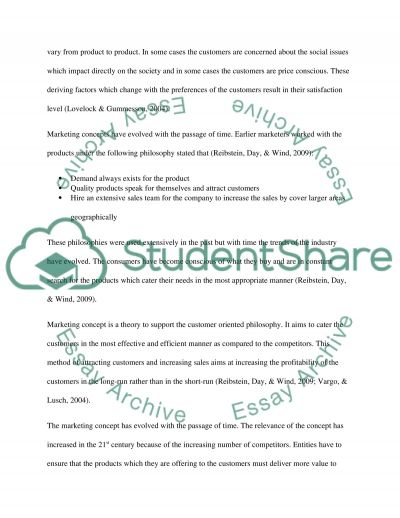 Marketing concept of British Gas Essay example