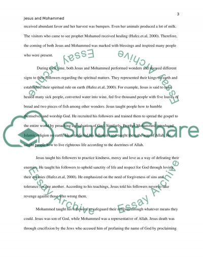 Jesus & Mohammed Paper Essay example