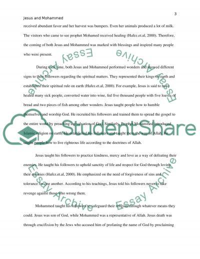 Jesus & Mohammed Paper essay example