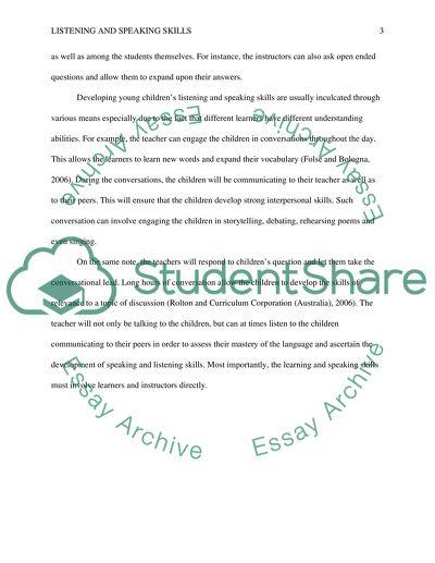 Listening Skills in Communication Essay Example - My Essay Writer