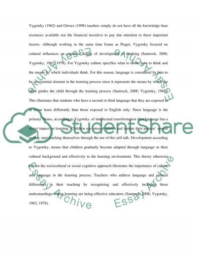 Learning differences in a given learning environment essay example