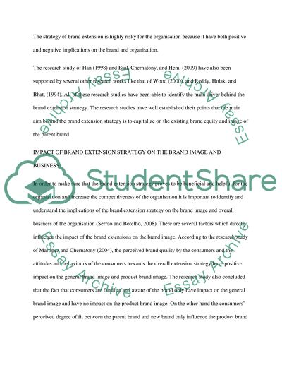 Brand extension literature review relocate cover letter sample
