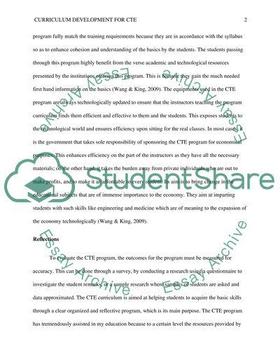 Curriculum Development for CTE