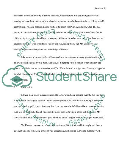 Bucket list essay