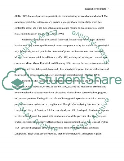 Do race and household income impact parental perceptions of homework essay example