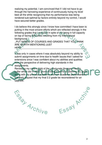 Grade Appeal Letter Sample from studentshare.info