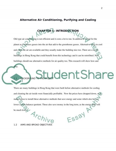 Critical Review and Suggested Improvement for the Alternative Air Cooling essay example